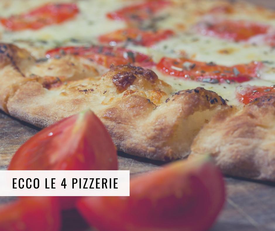 presentazione delle 4 pizzerie