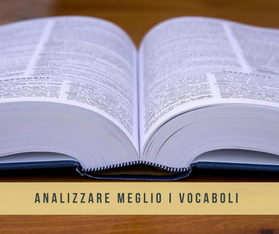 vocabolario etimologia