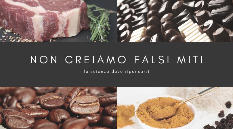 i falsi miti dell'alimentazione