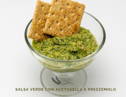 Salsa verde con acetosella e prezzemolo
