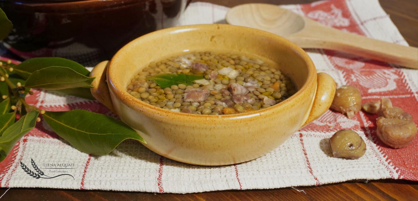 legumi, lenticchie, castagne, zuppa