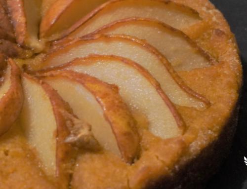 Torta di pere marinate allo zenzero